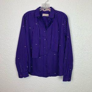 Diane Von Furstenberg Vintage blouse logo stripe